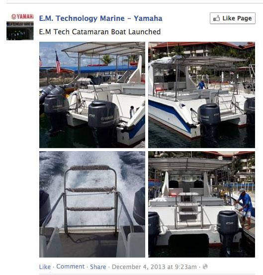 Yamaha Malaysia catamaran launched