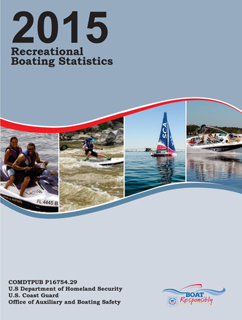 USCG 2015 Recreational Boating Statistics cover