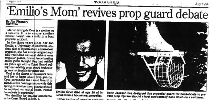 Emilio's Mom revives prop guard debate June 1996 Soundings