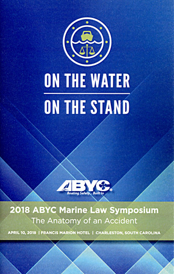 ABYC Marine Law Symposium 2018 booklet