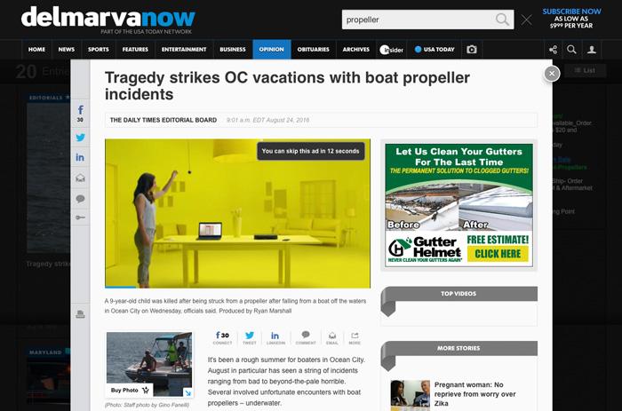 DelmarvaNow headline after the change