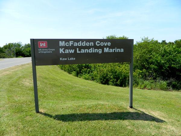McFadden Cove sign at Kaw Lake