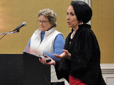 Pam Dillon of NASBLA and Joanne Dorval of U.S. Sailing presenting at NBSAC97
