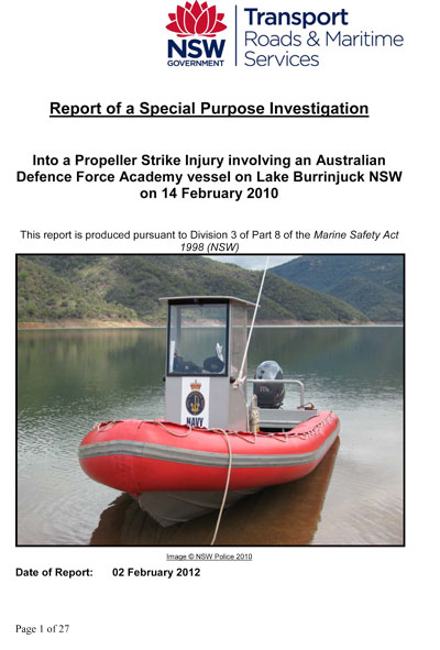 NSW Propeller Accident Investigation Report