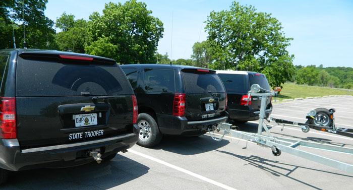 Oklahoma OHP Lake Patrol vehicles