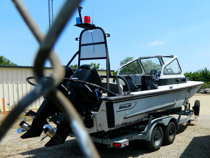USACE boat at Kaw Lake
