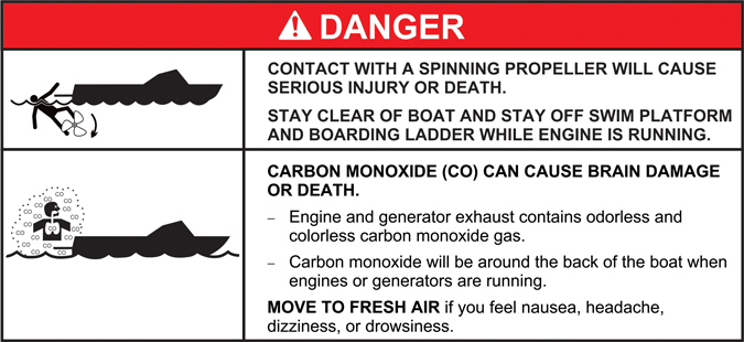 ABYC consolidated transom warning
