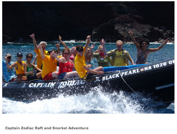 Captain Zodiac tour Hawaii