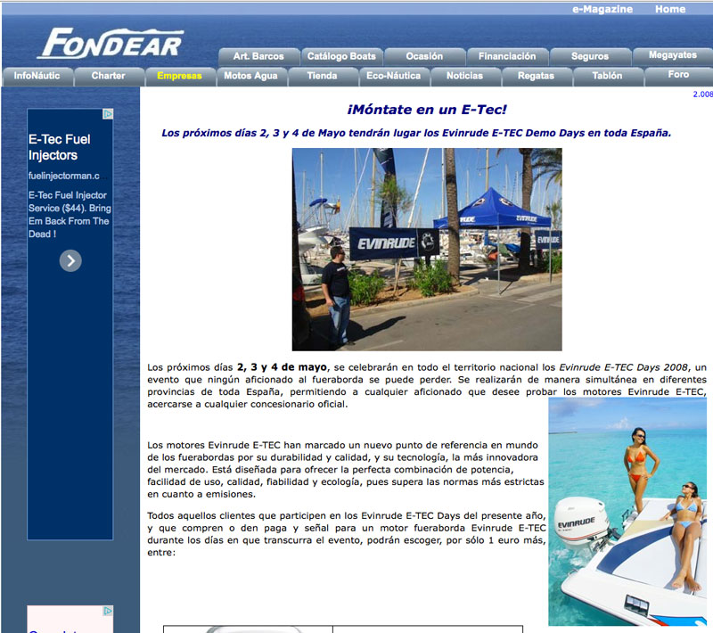 Fondear ad from Spain