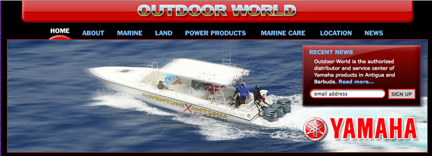Outdoor World (Yamaha Antigua) web site