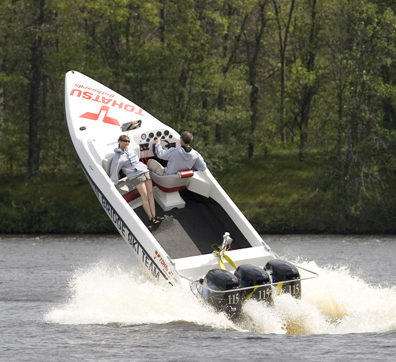 Tohatsu Twin Bridge Ski Team boat, Crivitz, Wisconsin