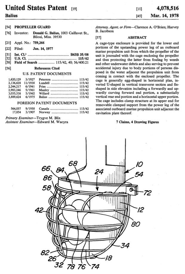 Balius U.S. Patent 4,078,516