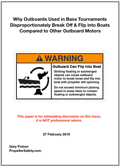 Icon to click on to download the paper on why bass boat outboard motors break off more frequently than others