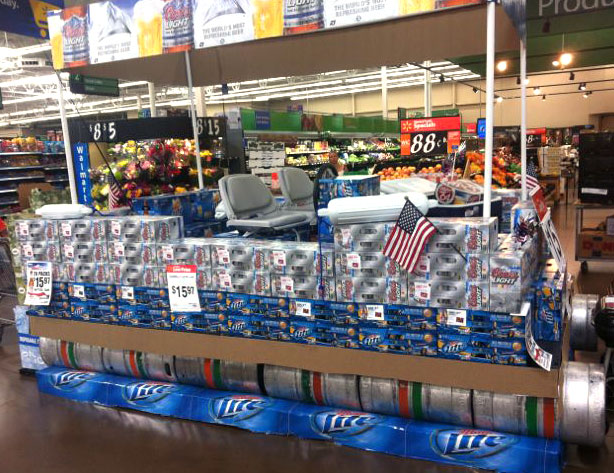 Beer Pontoon Boat at Wal-Mart