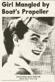 Boni Buehler as a stewardess
