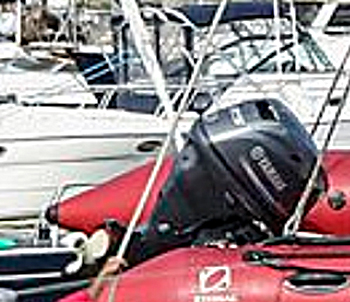 Centerport Yacht Club RIB outboard motor involved in the accident