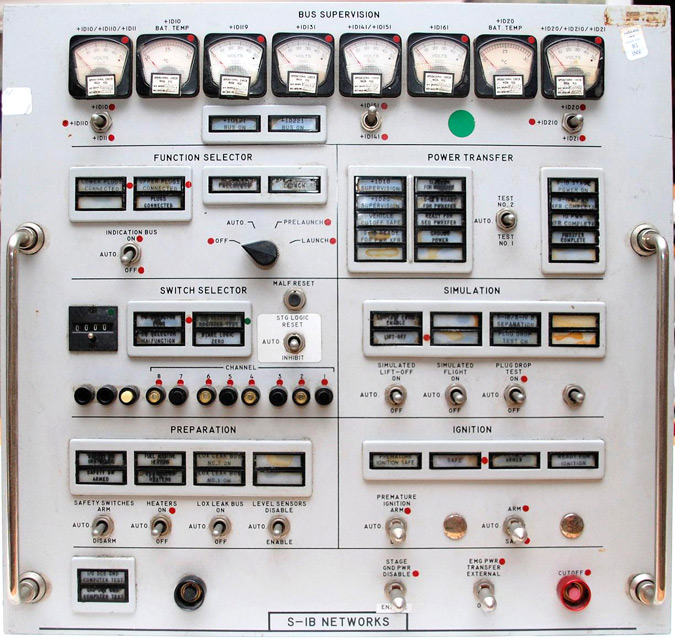 A 1970's Kennedy Space Center control panel