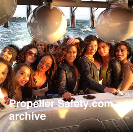Pretty Girls on DJ Laz's boat