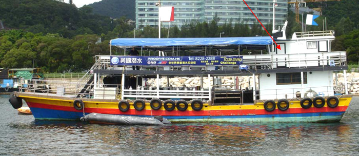 Dive Boat in Hong Kong