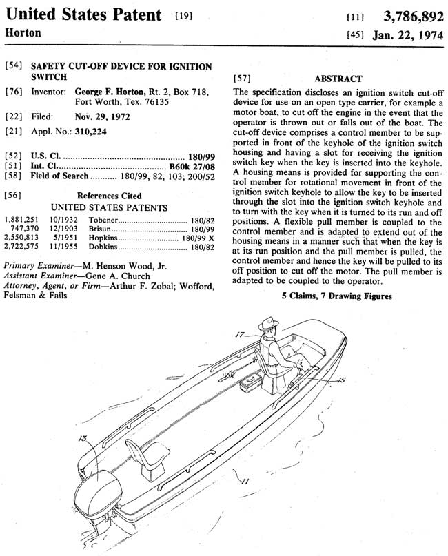 Horton Kill Switch Patent
