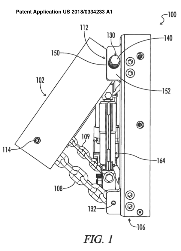Kickup jack plate with tether patent application