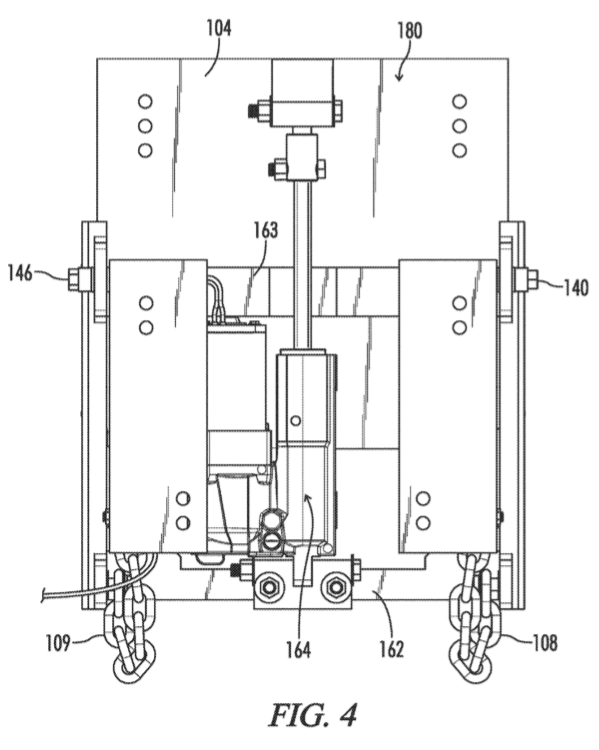 Kickup jack plate patent application Figure 4