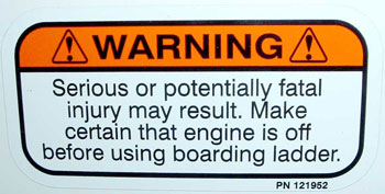 Ladder Propeller Warning Decal