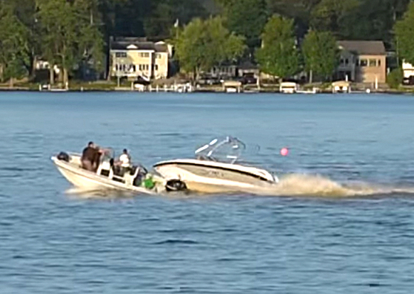 Lake Gage boat accident Oxford YouTube video still #2