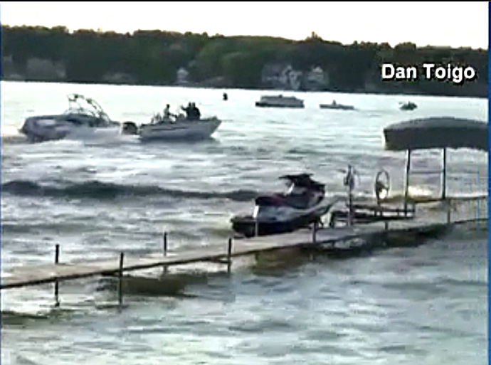 Lake Gage boat accident DNR boat impact still #1 from WFLA video
