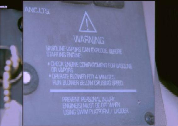 Listman Trial - helm propeller warning closing
