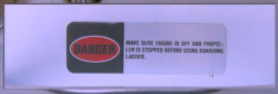 Listman Trial - ladder propeller warning closing
