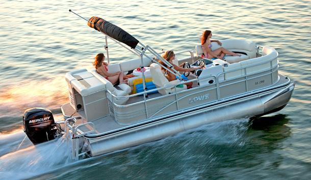 Lowe pontoon boat