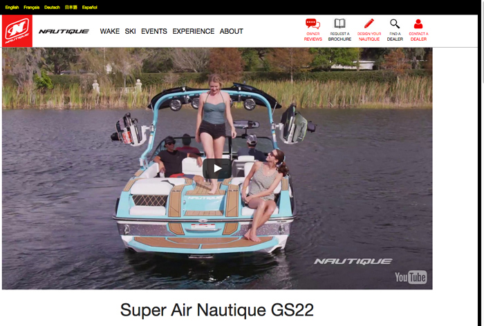 Super Air Nautique GS22 web page