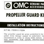 OMC Gale Propeller Guard Installation Instructions for ring guard