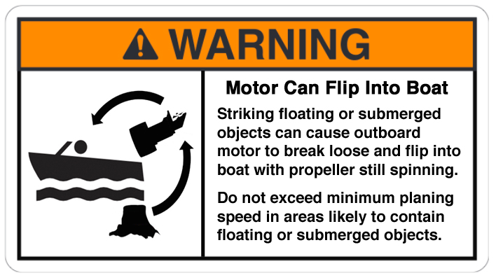 Outboard Can Flip Into Boat warning 3