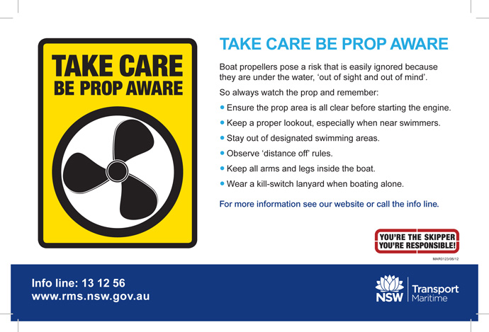 prop aware campaign, NSW Maritime Centre for Maritime Safety (Australia)