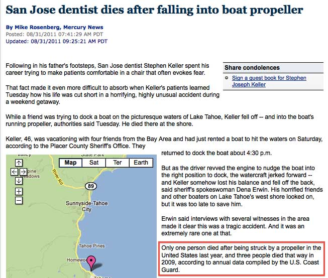 Propeller Accident Report San Jose Mercury News