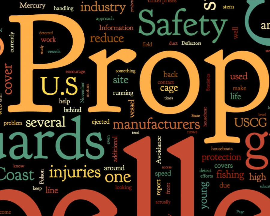 Propeller Safety Terms Wordle zoomed