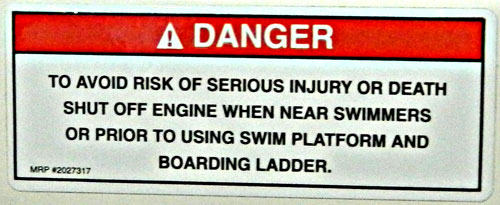 Propeller Warning Danger Decal