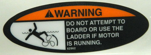 Propeller Warning Decal elliptical shape