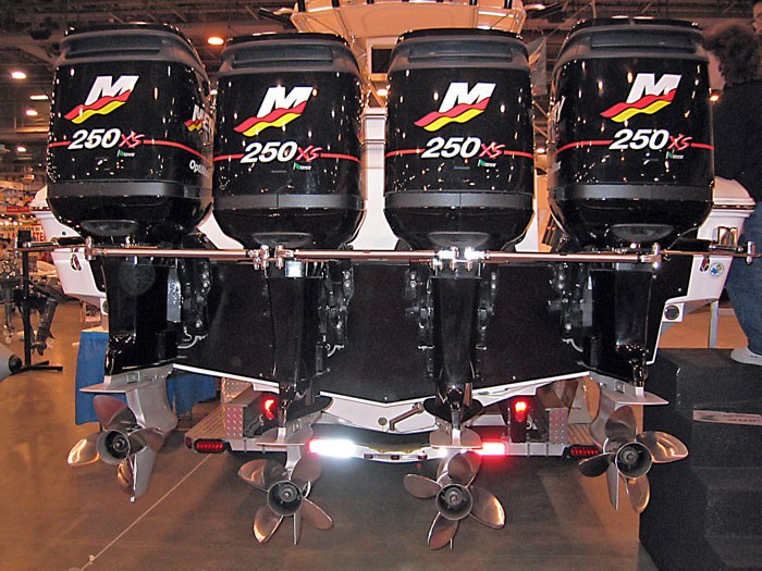 Quad Mercury 250 outboards