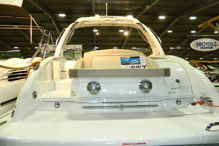 Swim platform seat on Formula boat