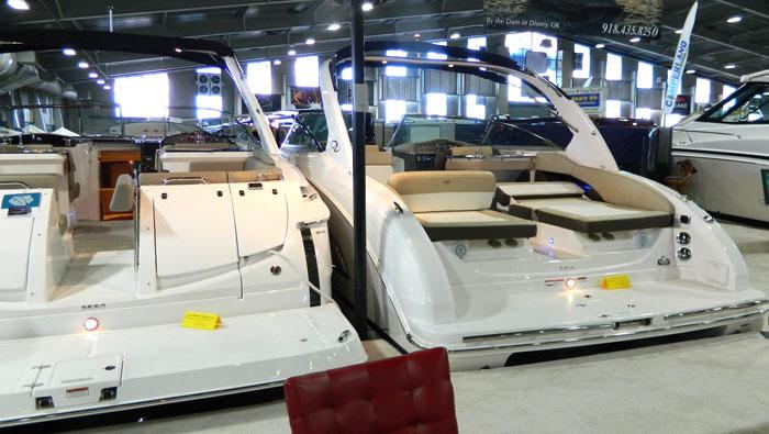 Swim platform seating on Regal boats