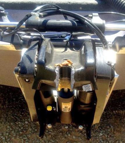 Rex Chambers' Mercury Marine outboard broken swivel plate