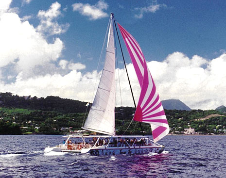 Tango Too Sail Cat, Sea Spray tours, St. Lucia