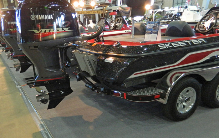 New Skeeter bass boats at 2014 Tulsa Boat Show