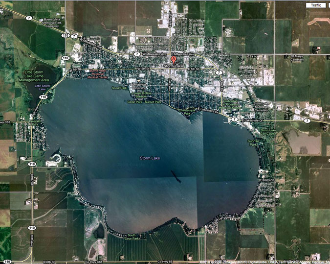 Storm Lake Iowa aerial view