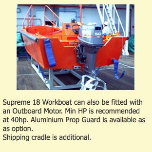 Supreme 18 workboat