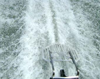 Navigator 3PO Propeller Guard skimming the water