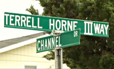 Terrell Horne Way III Street Sign